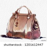 fashion illustration with purse ... | Shutterstock . vector #1201612447