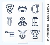 simple set of 9 icons related... | Shutterstock .eps vector #1201612921