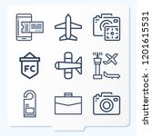 simple set of 9 icons related... | Shutterstock .eps vector #1201615531