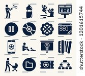 contains such icons as browser  ... | Shutterstock .eps vector #1201615744
