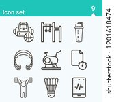 contains such icons as lifting... | Shutterstock .eps vector #1201618474