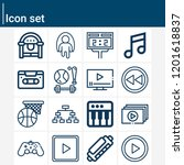 contains such icons as... | Shutterstock .eps vector #1201618837