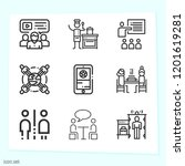simple set of 9 icons related... | Shutterstock .eps vector #1201619281