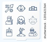 simple set of 9 icons related... | Shutterstock .eps vector #1201621564