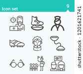 contains such icons as proposal ...   Shutterstock .eps vector #1201621741