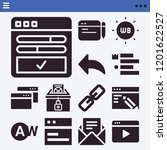 set of 13 interface filled... | Shutterstock .eps vector #1201622527