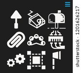 set of 9 tool filled icons such ...   Shutterstock .eps vector #1201626217