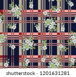 stock flowers bunches  pattern...   Shutterstock .eps vector #1201631281