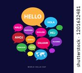 world hello day poster concept... | Shutterstock .eps vector #1201632481