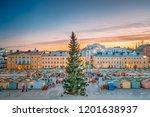 helsinki  finland. christmas... | Shutterstock . vector #1201638937