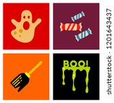 assembly flat icons halloween...   Shutterstock .eps vector #1201643437