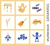 assembly flat icons halloween...   Shutterstock .eps vector #1201643521