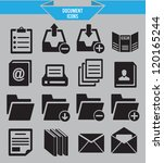 set of document icons   vector... | Shutterstock .eps vector #120165244