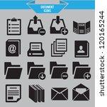 set of document icons   vector... | Shutterstock .eps vector #120165244