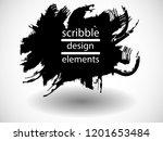 hand drawn scribble . doodle... | Shutterstock .eps vector #1201653484