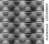 vector seamless monochrome...   Shutterstock .eps vector #1201658824