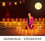 tadingyut festival  the... | Shutterstock .eps vector #1201663144