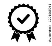 black icon approved or... | Shutterstock .eps vector #1201665061