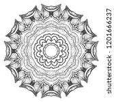 modern decorative floral color... | Shutterstock .eps vector #1201666237