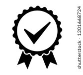 black icon approved or... | Shutterstock .eps vector #1201668724