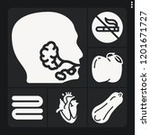 set of 6 health filled icons... | Shutterstock .eps vector #1201671727