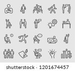 line icons set for businessman | Shutterstock .eps vector #1201674457