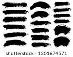 brush strokes. vector... | Shutterstock .eps vector #1201674571
