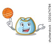 with basketball character baby... | Shutterstock .eps vector #1201674784
