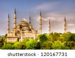 blue mosque  istanbul | Shutterstock . vector #120167731