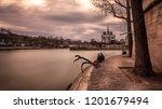 landscape of notre dame  france.... | Shutterstock . vector #1201679494