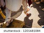 indian groom's ritual for... | Shutterstock . vector #1201681084