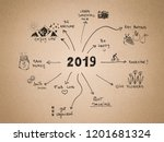 2019 new year resolution  goals ... | Shutterstock . vector #1201681324