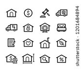 real estate icons   set 2 | Shutterstock .eps vector #1201684894