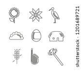 ukrainian attributes  symbols ... | Shutterstock .eps vector #1201689721
