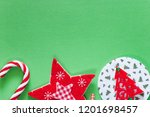 christmas background with copy... | Shutterstock . vector #1201698457