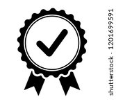 black icon approved or... | Shutterstock .eps vector #1201699591
