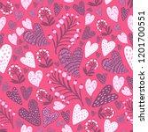 pink seamless vector pattern... | Shutterstock .eps vector #1201700551
