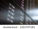 boarding time monitor screens   ... | Shutterstock . vector #1201707181
