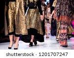 female models walk the runway... | Shutterstock . vector #1201707247