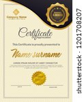 certificate with diploma... | Shutterstock .eps vector #1201708207