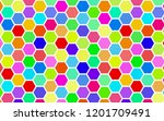 honeycomb many color ... | Shutterstock . vector #1201709491