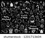 big set of christmas design... | Shutterstock . vector #1201713604