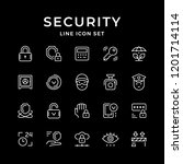 set line icons of security | Shutterstock .eps vector #1201714114