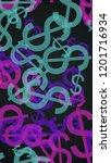 multicolored translucent dollar ... | Shutterstock . vector #1201716934
