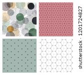 minimal covers design. colorful ... | Shutterstock .eps vector #1201724827