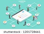 isometric flat vector concept... | Shutterstock .eps vector #1201728661