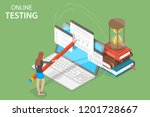 isometric flat vector concept... | Shutterstock .eps vector #1201728667