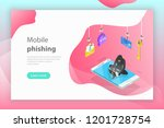isometric flat vector concept... | Shutterstock .eps vector #1201728754
