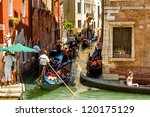 italy  venice   july 16  heavy... | Shutterstock . vector #120175129