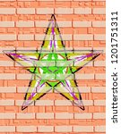 Five Pointed Star Pattern On A...